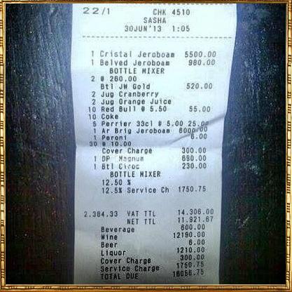 bar bill